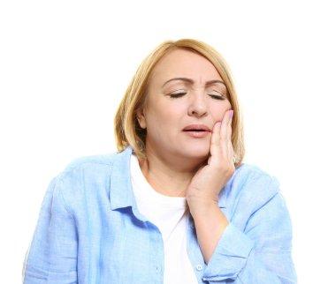 Senior woman suffering