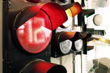 Closeup of traffic light