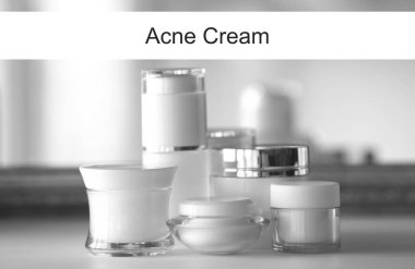 Acne medication cosmetic concept