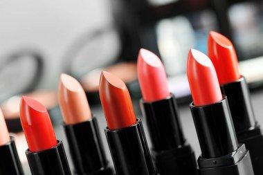 Lipsticks in different shades