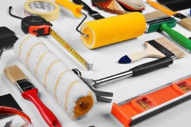 Set of professional decorator equipment
