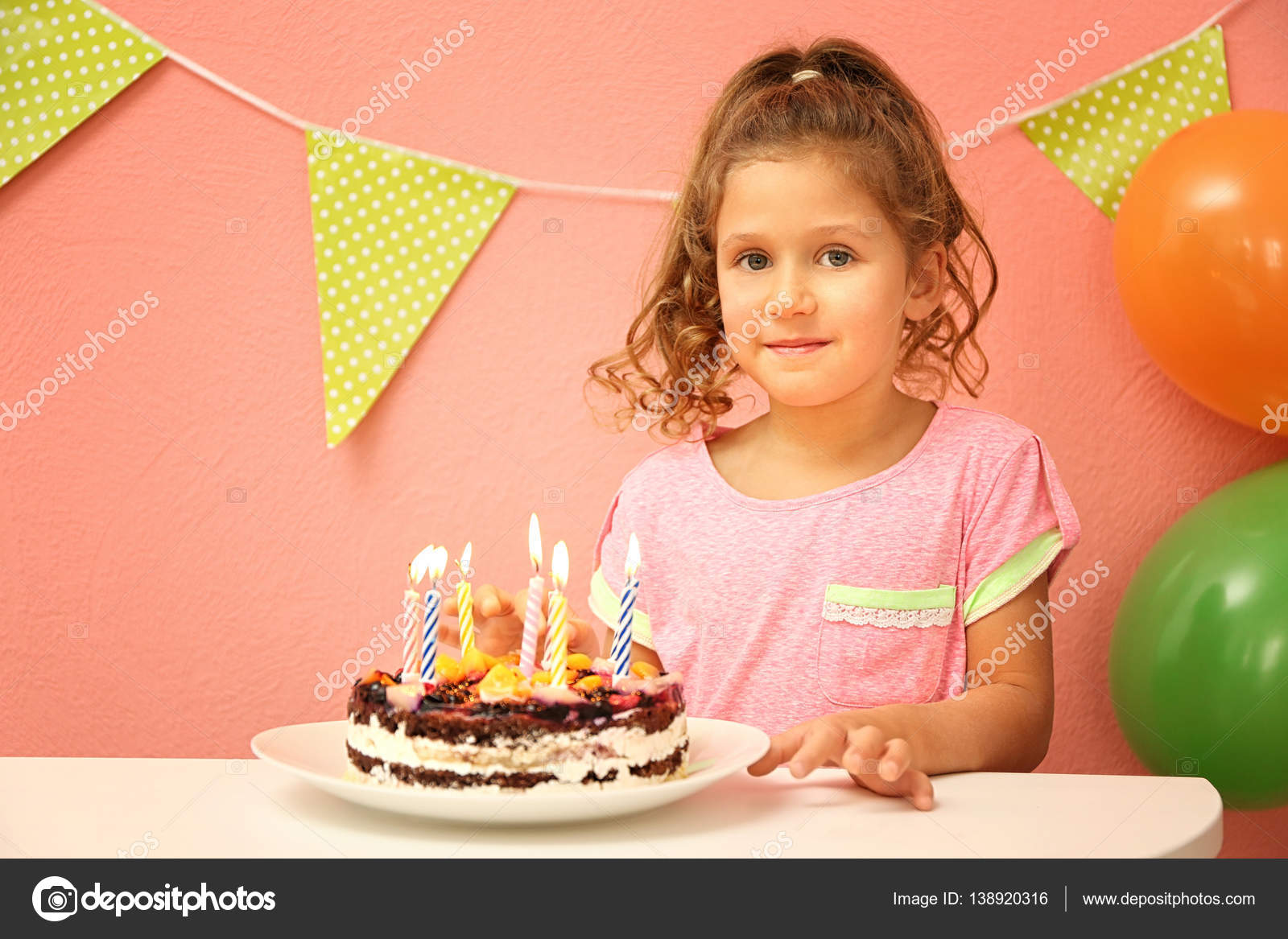 Tremendous Funny Little Girl Birthday Cake Stock Photo C Belchonock 138920316 Funny Birthday Cards Online Alyptdamsfinfo
