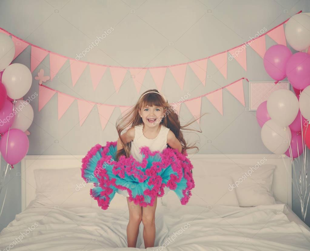 Cute birthday girl