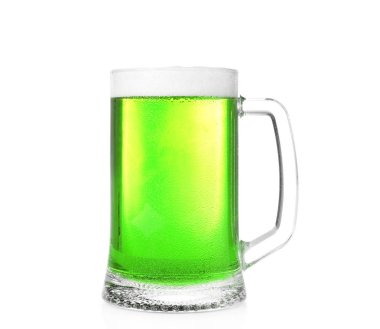 Mug with cold green beer