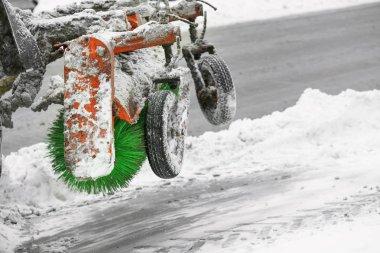 Snow plow outdoors