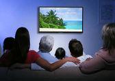Fényképek Családi otthon tévénézés
