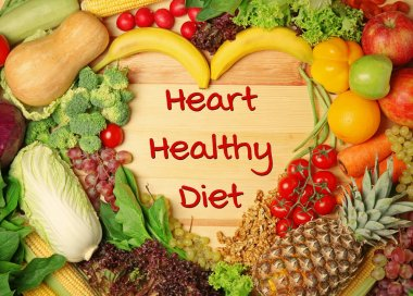 Diet for healthy heart concept