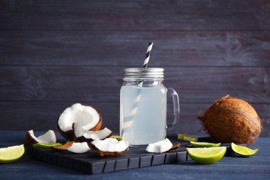Fresh nuts and mason jar