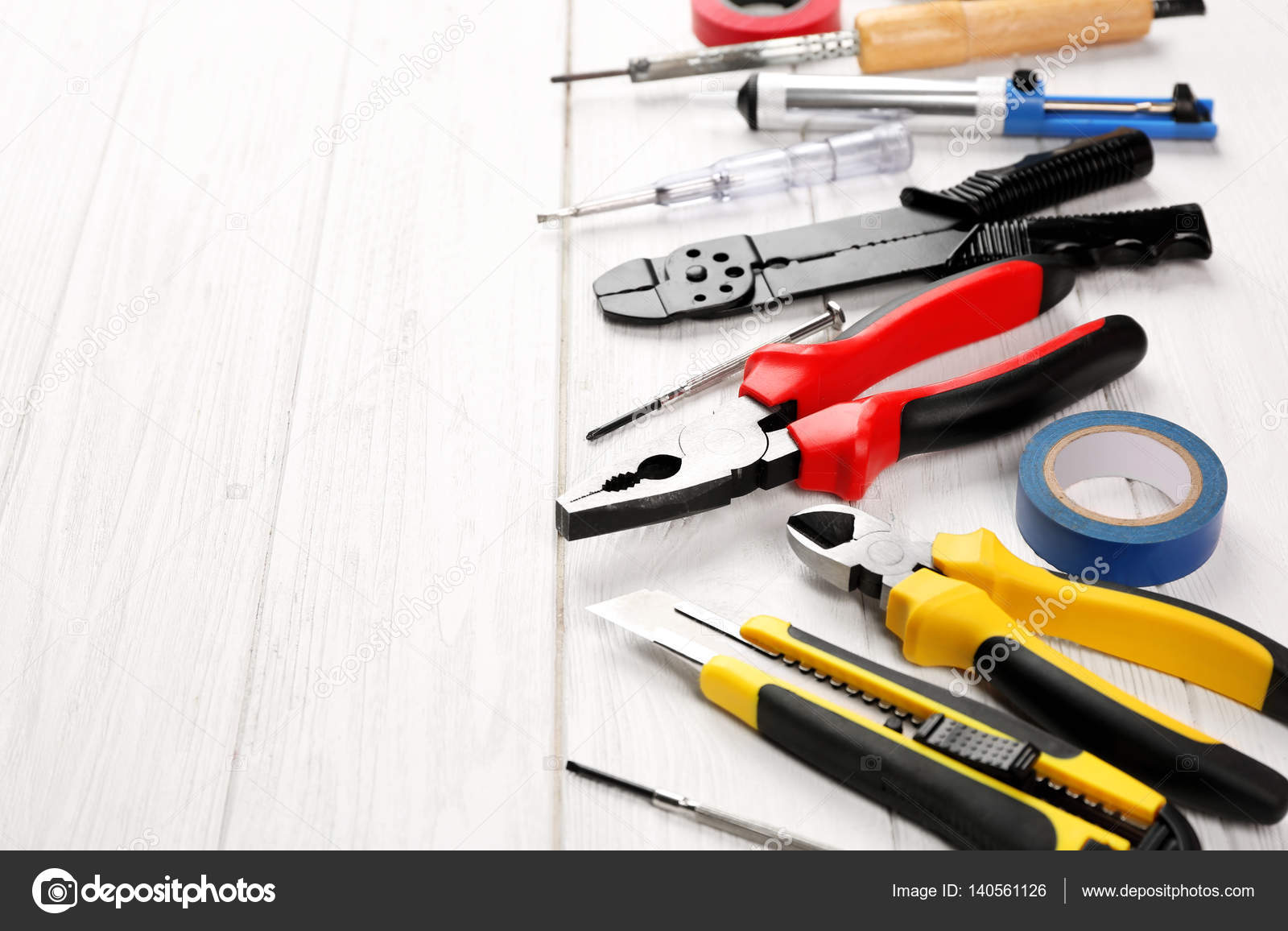 Electrical Tools Name And Image Different Electrical Tools Stock Photo C Belchonock 140561126