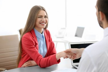 HR manager conducting interview