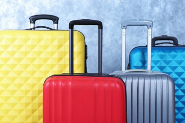 different Colorful  suitcases