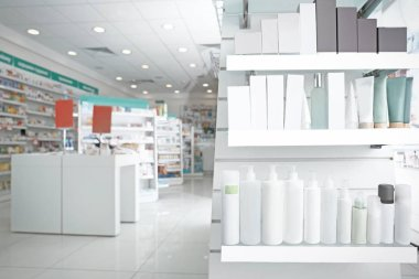 Various products on shelves