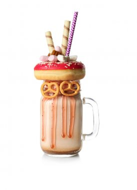 Milkshake, donut and other sweets