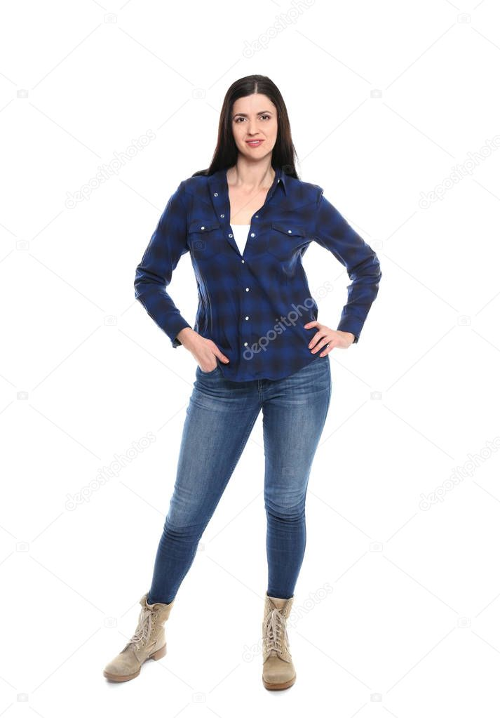 Attractive young woman in casual clothes