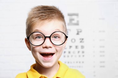 Little boy with spectacles