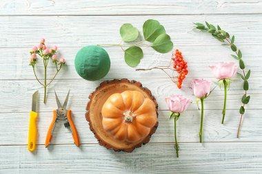 beautiful pumpkin composition