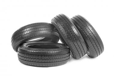 Car tires, isolated
