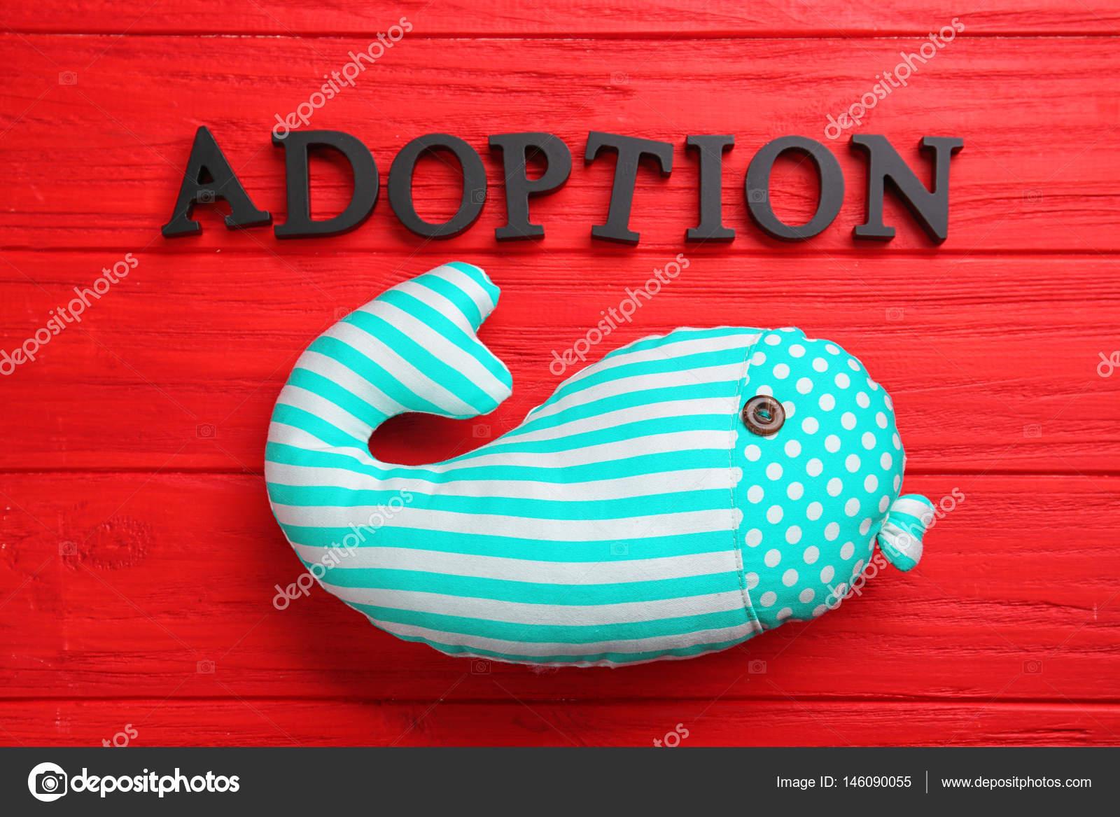 Adopción Palabra Juguete Foto Stock De La Y — Ballena ordBWCxe