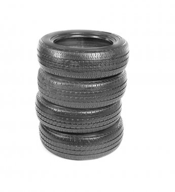 tires, isolated on white