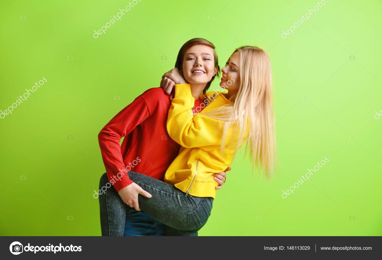 Junge lesbische beste Freunde