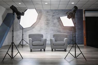 Photo studio with modern interior