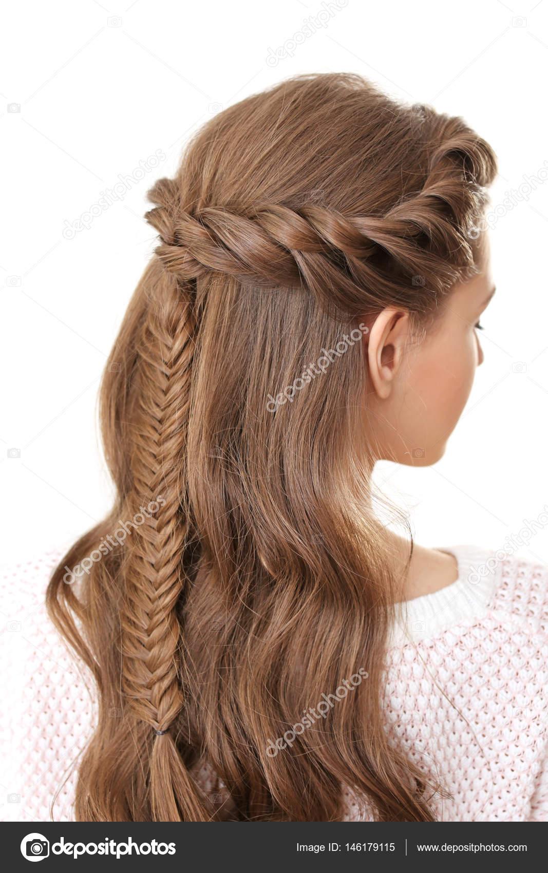 Strange Woman With Nice Braid Hairstyle Stock Photo C Belchonock 146179115 Natural Hairstyles Runnerswayorg