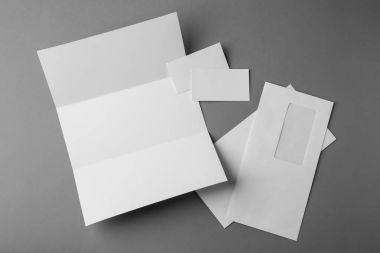 Set of blank items for branding