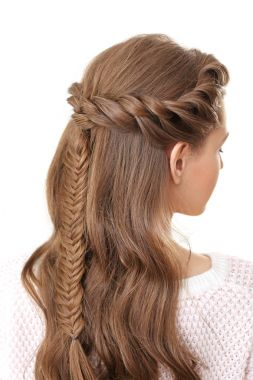 woman with nice braid hairstyle