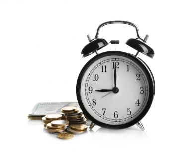 Alarm clock and money