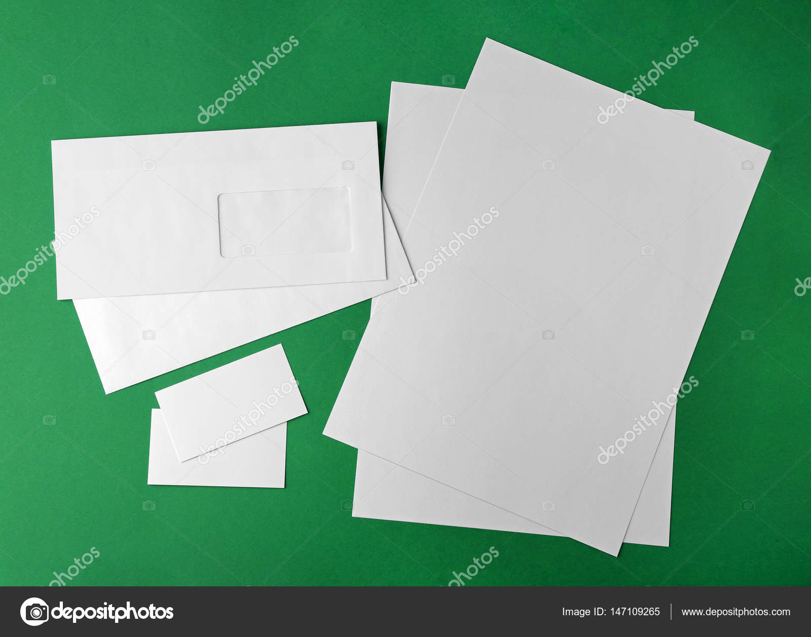 Blank brochure and business cards stock photo belchonock 147109265 blank brochure and business cards fotografia de stock reheart Image collections