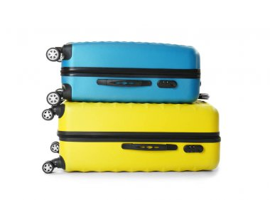 Colorful traveler bags