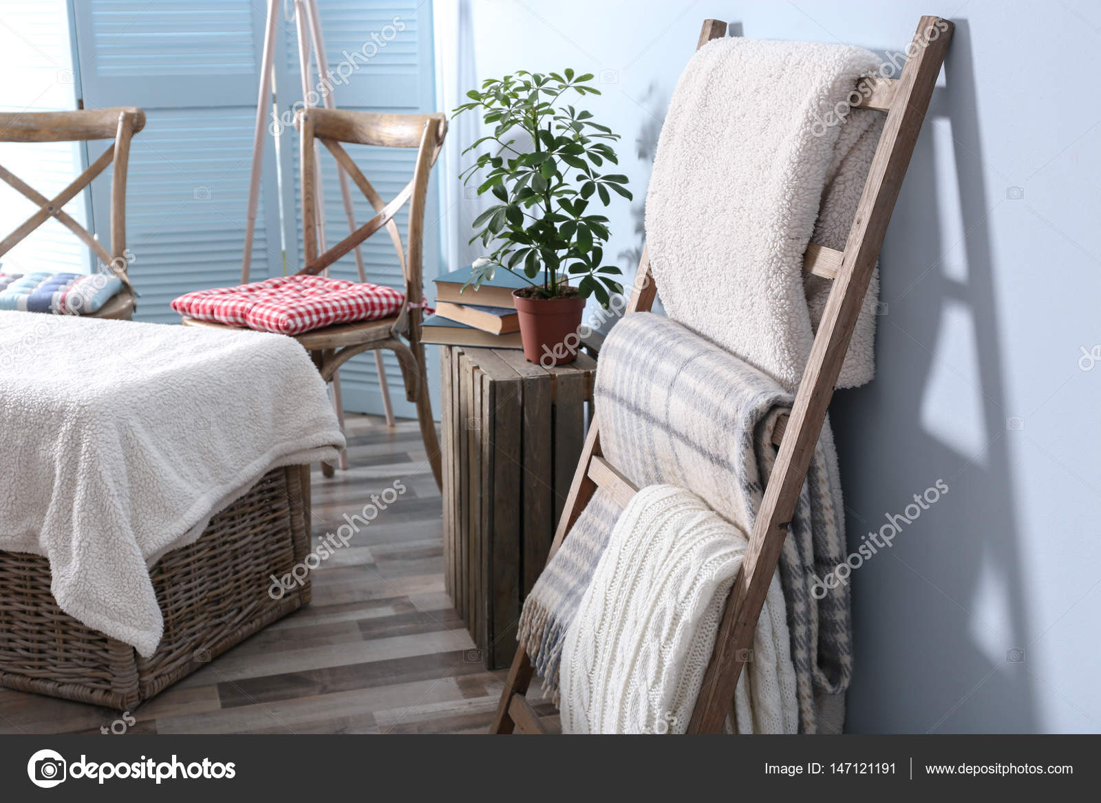 Houten Ladder Decoratie : Vintage decoratieve houten ladder trapladder cm te koop