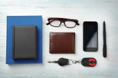 Composition of businessman accessories