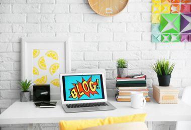 interior of designer workplace