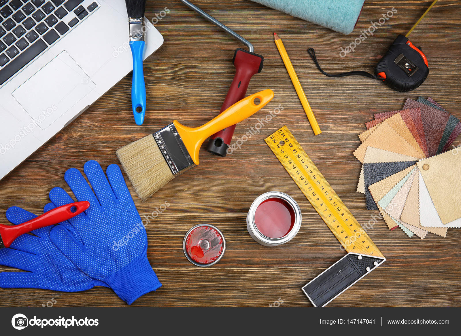 outils pour ordinateur portable et de la peinture photographie belchonock 147147041. Black Bedroom Furniture Sets. Home Design Ideas