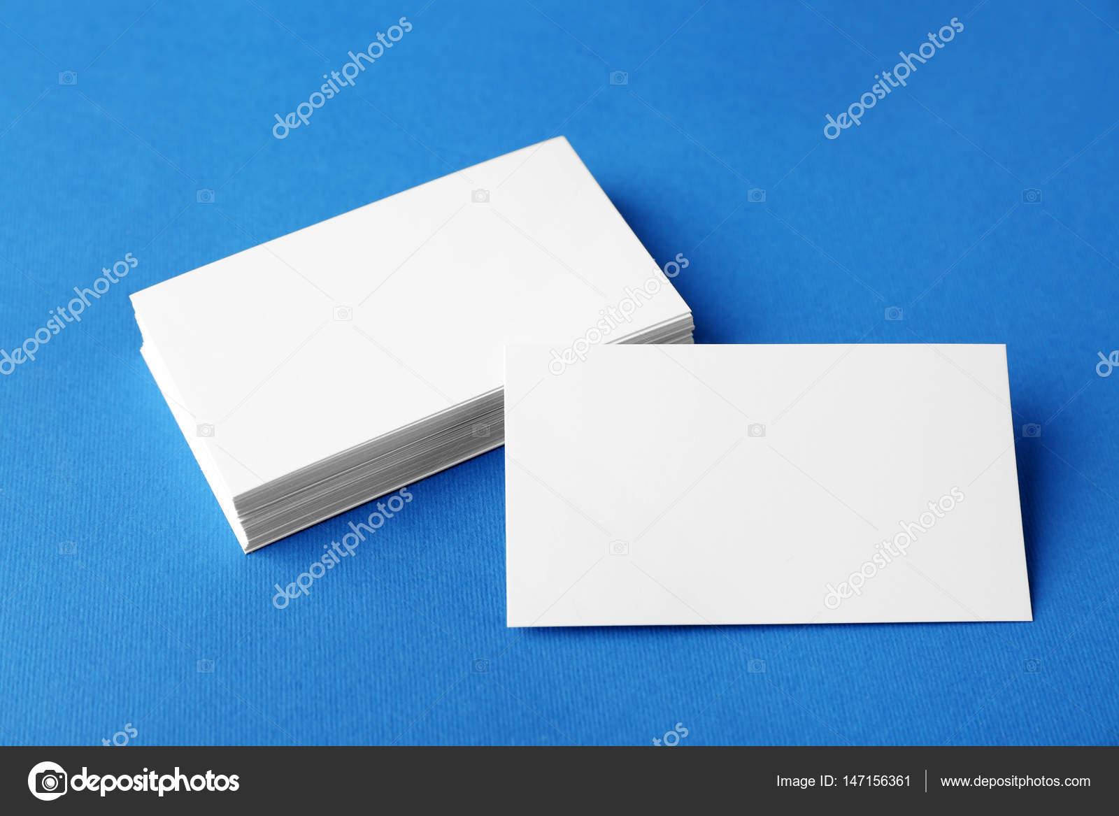 Blank business cards — Stock Photo © belchonock #147156361