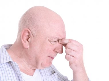 Mature man suffering from pain