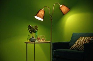 Armchair in modern room