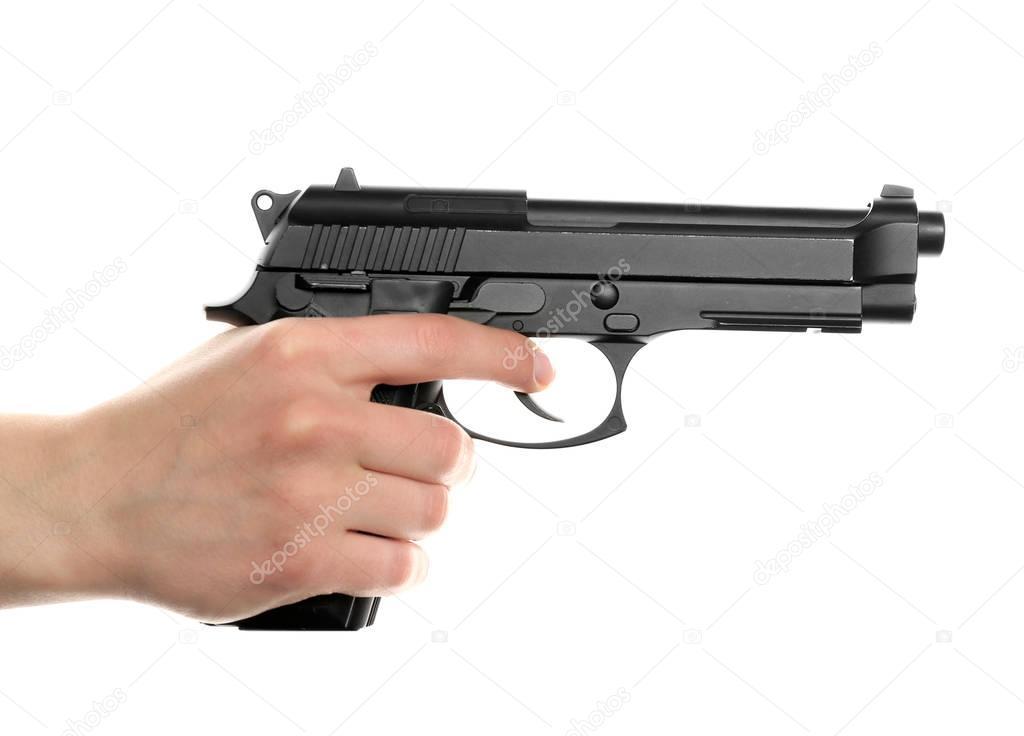 arma de exploração de mão de homem — Fotografias de Stock ...