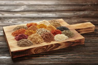 heaps of Different spices