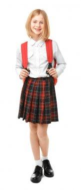 Cute girl in school uniform