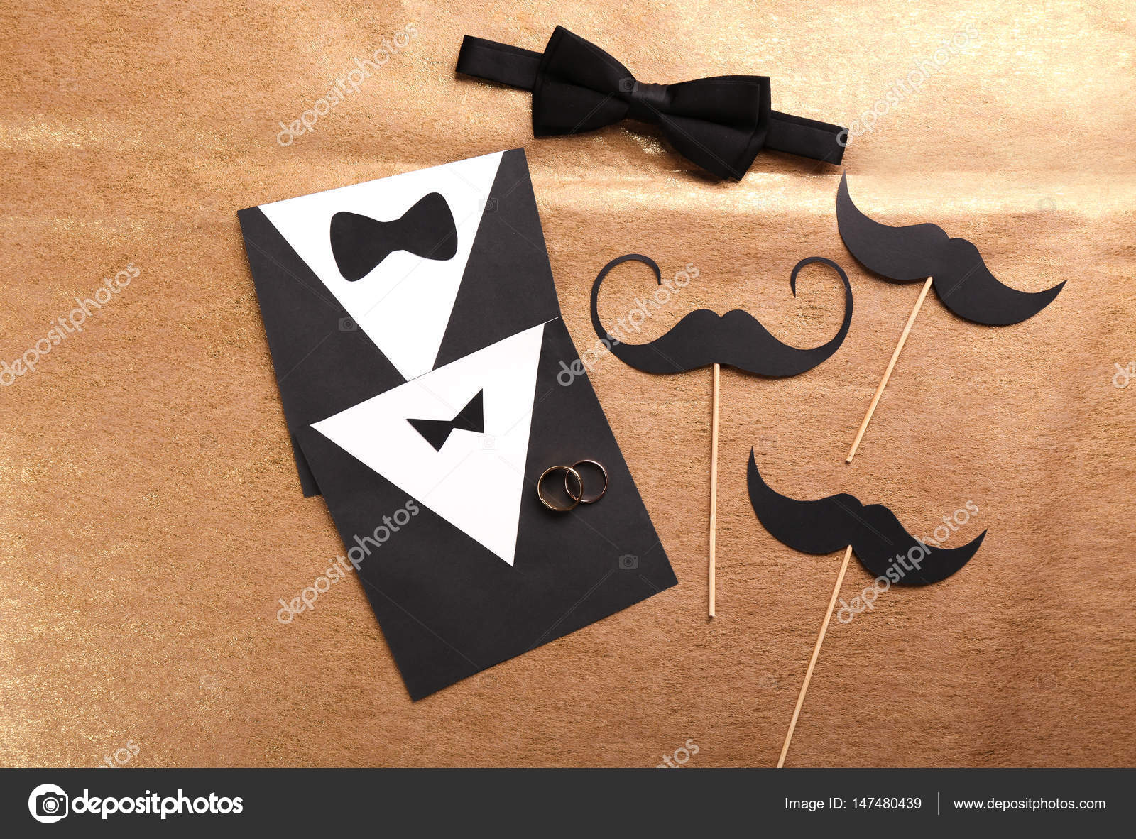 Elegant Gay Hochzeit Karte Einladung U2014 Stockfoto