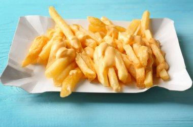 Tasty cheese fries