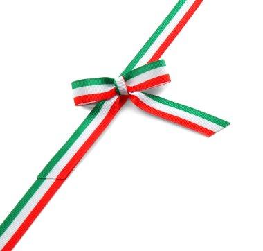 Ribbon in colors of Italian flag