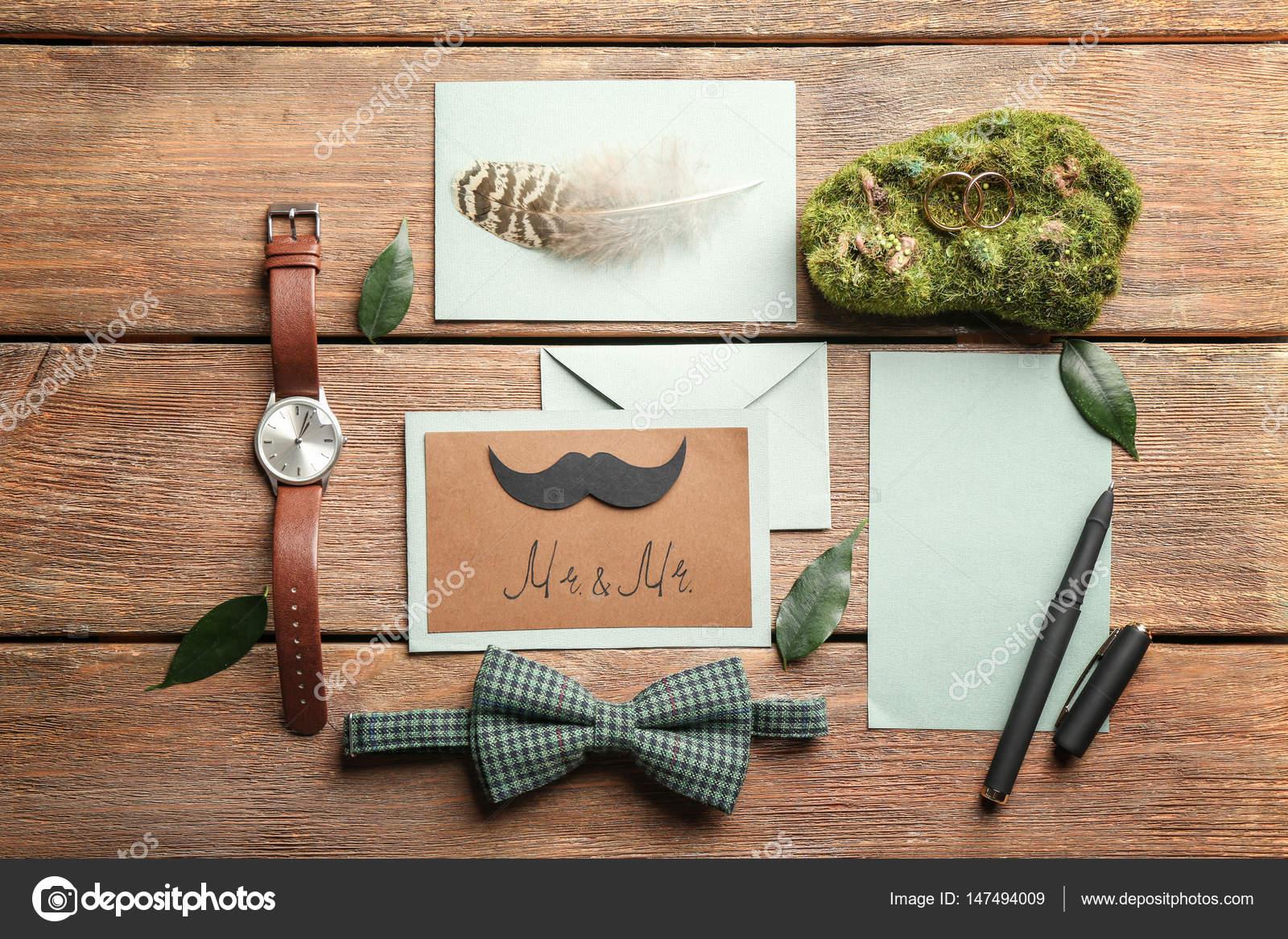 Gay Hochzeit Karte Einladung — Stockfoto © belchonock #147494009