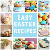 Fényképek Húsvéti receptek kollázs sablonok