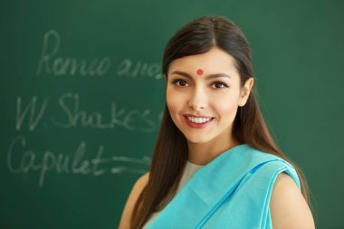 Portrait of Indian female teacher