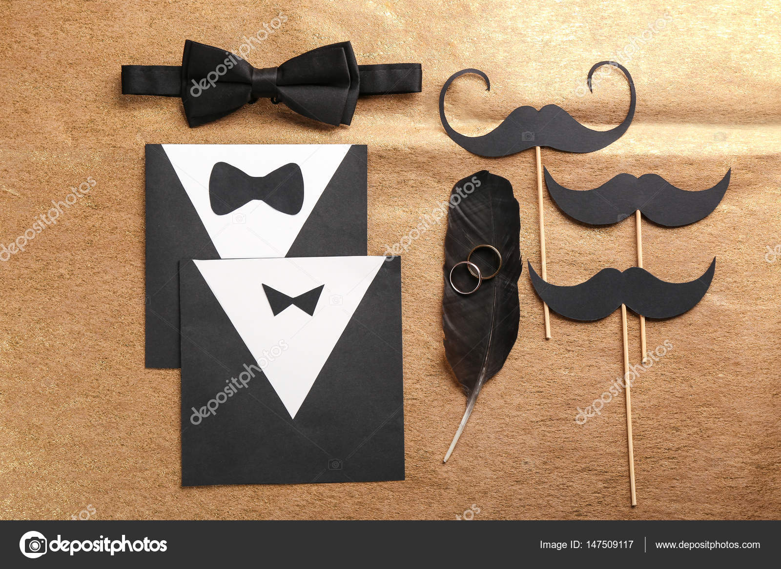 Gay Hochzeit Karte Einladung U2014 Stockfoto