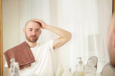 Hair loss concept.