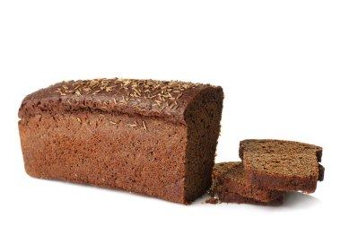 Dark bread and slices